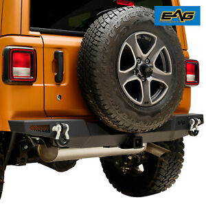 Eag Rock Crawler Rear Bumper With 2 Hitch Receiver For 18 19 Jeep Jl Wrangler