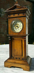 Antique Victorian Miniature Longcase Grandfather Clock Working 11 5 Tall