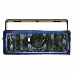 Pilot Universal Rectangular White Hid Blue Lens Chrome Housing Fog Lights Lamps