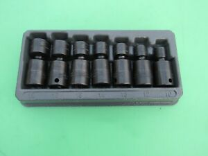 Snap On 7 Pc Metric 3 8 Swivel Impact Socket Set 207ipfm 10mm 12mm 15 17 18mm