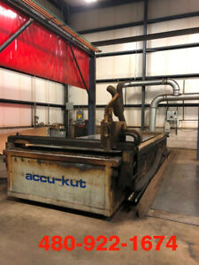 2006 Aks Accu Kut P0620 Cnc Plasma Cutting Table 6x20 Table Size Hpr260