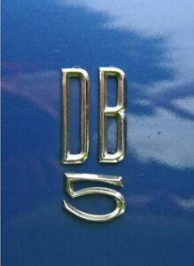 Aston Martin Db5 Db6 d Badge Rear Chrome