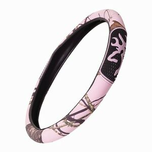 Pink Browning Camo Steering Wheel Cover Camouflage Auto Truck Car