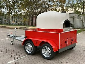 Mobile Gas Wood Fired Pizza Oven Pizza Trailer Catering Forno Lpg vat