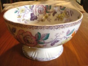 Antique English Chinese L Co Ceylon Porcelain Punch Bowl Cannell Chaffin La