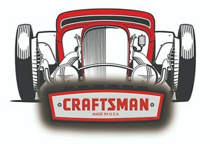 Craftsman Tool Sticker Garage Rod Pinup Sexy Vintage Decal Mechanic Tool Box Usa