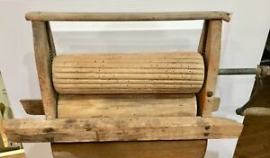 Antique Wood Clothes Wringer Washing Machine Top Works Very Old Very Rare