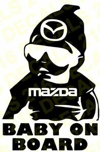 Baby On Board Decal Car Truck Vinyl Sticker For Mazda