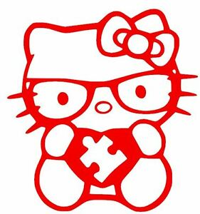 Autism Decal Hello Kitty Autism Custom Truck Car Vinyl Decal Window Sticker