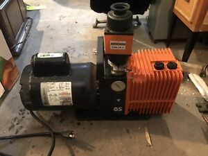 Alcatel Pascal Rotary Vane Dual Stage Mechanical Vacuum Pump 1 2 Hp W Ome 25 S