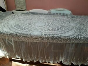 Antique Lace French Normandy Bedspread Wedding Veil Exceptional Wedding