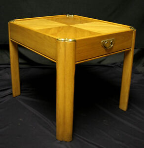 Vintage Oak Wood Thomasville End Side Accent Table Night Stand Drawer Hardware