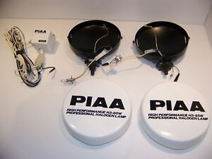 Piaa Off Road Lights H3 85w Ph 5fa Halogen Housings Covers Wiring Nos Unused