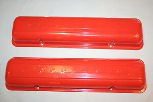 Vintage Script Small Block Chevy Valve Covers