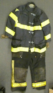 Janesville Firefighter Set Jacket 46x35 Pants 42x30 Bunker Turn Out Gear S49