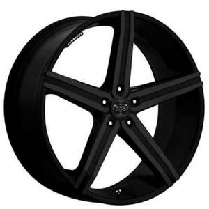 Set4 24 Versante Wheels Ve228 Matte Black 6 Lugs Rims Fs