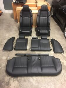 2013 2016 13 Bmw F10 550i 535 M5 Leather Seats Set Merino Black Front Rear Oem