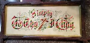 Victorian Needlepoint In Adirondack Frame 13 X 26 Simply In The Cross