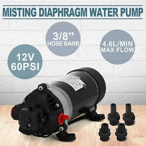 12v 60psi Water Pressure Diaphragm Pump 4 6l min Marine Misting Pump Durable