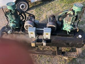 Champion R15 Pumps 2 5 hp 3 ph 112 gal Dual Air Compressor 200 psi
