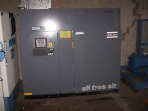 Atlas Copco 107 Hp Oil Free Air Compressor Type Zt 75 125 Psig Max