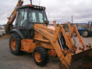 Case 580 Super L Series 2 Tractor Loader Backhoe 4x4 Cab