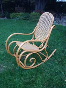 Vintage Authentic Thonet Bentwood Rocking Chair