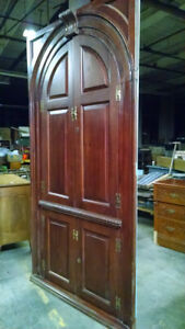 7 1 2 Foot Tall Large Antique Corner Cabinet