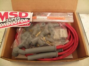 Msd 8 5mm Super Conductor Spark Plug Wire Set Universal 4cyl 31159