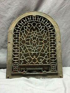 Antique Arched Cast Iron Decorative Heat Grate Wall Register 13x16 Vtg 97 19d