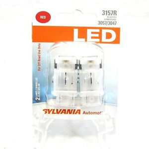 Sylvania Bright Red Led 3157r Compatible 3057 3047