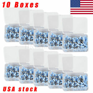 1000pcs Dental Prophy Cup Rubber Polish Brush Polishing Tooth Latch Firm Blue Hc