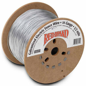Red Brand Galvanized Electric Fence Wire 14 Gauge 2640 ft