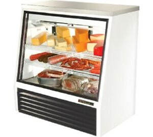 Nice True Glass Refrigerated Deli meat Merchandiser Case With Led Lighting