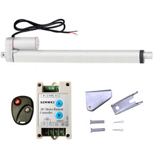 High Speed 18 Linear Actuator W Remote Control Heavy Duty 12v Dc 14mm s 220lbs