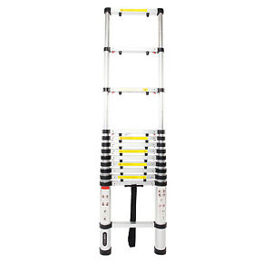 12 5ft Telescopic Extension Aluminum Step Ladder Folding Multi Purpose 12 Steps