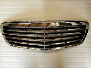 2007 2009 For Mercedes Benz S Class W221 Assembly Black Grille With Chrome Frame