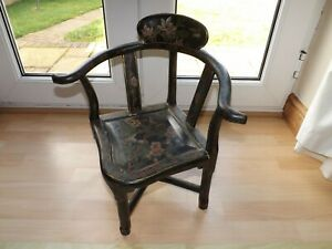 Stunning Gilt Hand Painted Childs Corner Chair With Label By Biggs