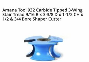 Amana Tool 932 Stair Tread Bore Shaper Cutter