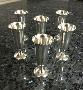 Antique Sterling Silver Cordial Cups By Gorham