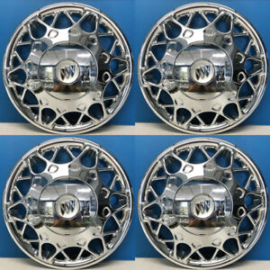 1997 2005 Buick Century 15 Chrome Hubcaps With Used Center Caps 441 15c Set 4