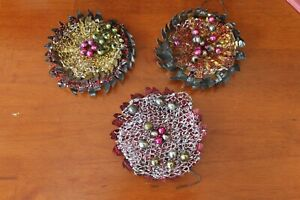 Vintage Tramp Art Christmas Ornaments From Tin Cans Look