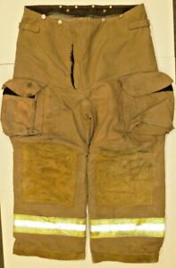 40s Pants Firefighter Turnout Bunker Fire Gear W Liner Janesville Lion P828