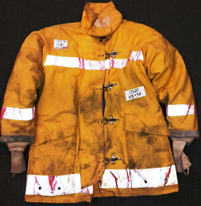 48x34 Firefighter Jacket Coat Bunker Turn Out Gear Brown Morning Pride J520