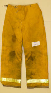 32x32 Pants Firefighter Turnout Bunker Yellow Fire Gear W Liner Globe P806