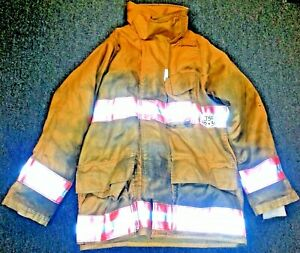 40x30 Firefighter Jacket Coat Bunker Turn Out Gear Gold Securitex J501