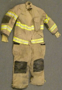 Firefighter Set Jacket 42x29 Pants 32l Bunker Turn Out Gear Janesville S26