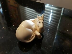 Vintage Japanese Netsuke Bone Horse Cream Color