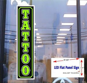 Led Sign Tattoo 48 x12 Window Sign Neon Banner Altern New Generation Led