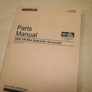 Cat Caterpillar 303c Cr Mini Excavator Parts Manual Book Catalog Spare Crawler